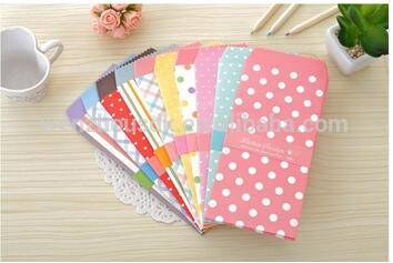 Custom Bulk Cheap DOT Colored Fancy Pocket Money Envelopes