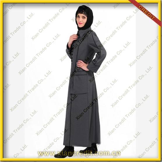 2014 Newest muslim women abaya made of flannel KDT - 1011