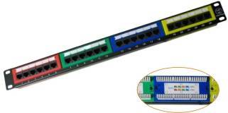 24 -Port Cat5e Unshielded Patch Panels (IDC style)