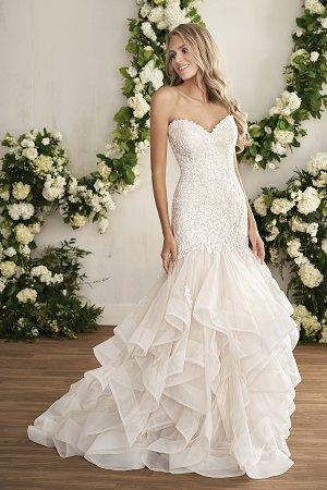 2017 Latest design gorgeous lace white bridal dress with chiffon