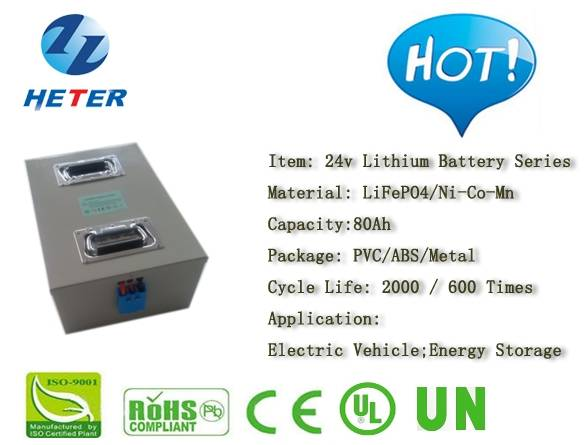 24v80Ah Lithium Battery; EV; Energy Storage; Medical Equipment; Electrionics Application Battery