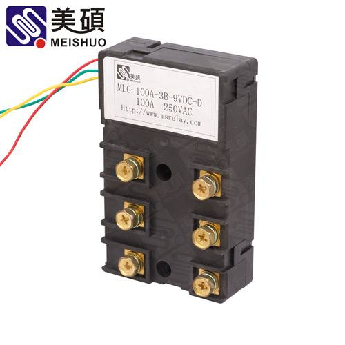 MEISHUO MLG 100A Latching relay 250VAC 3B relay latch relay
