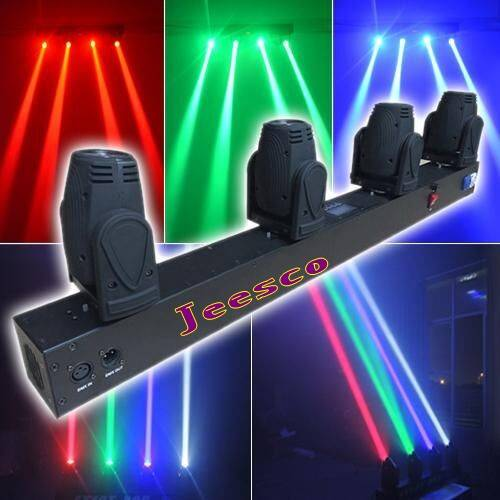 4Heads 12w RGBW 4in1 Led Moving Head Beam Light