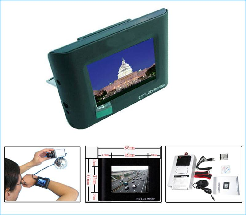 2.5 Inch Portable CCTV Testing Monitor with Wrist Strap