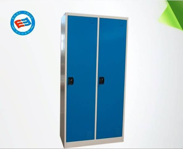 Steel Two door locker with padlock Steel office furniture Multiuse