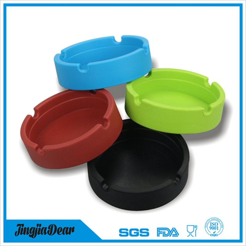 Eco-Friendly Colorfull Premium Silicone Rubber High Temperature Heat Resistant Round Ashtray