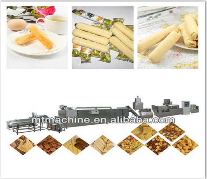 New Condition Automatic Co-extruded snacks machine