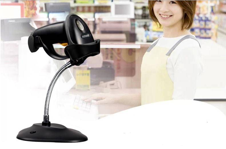 USB Automatic Laser Barcode Scanner Bar Code Reader,Holder Stand , USB CABLE,Free Shipping