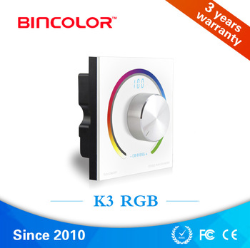 Bicolor K3 digital display light controller, tri-channel rgb led controller