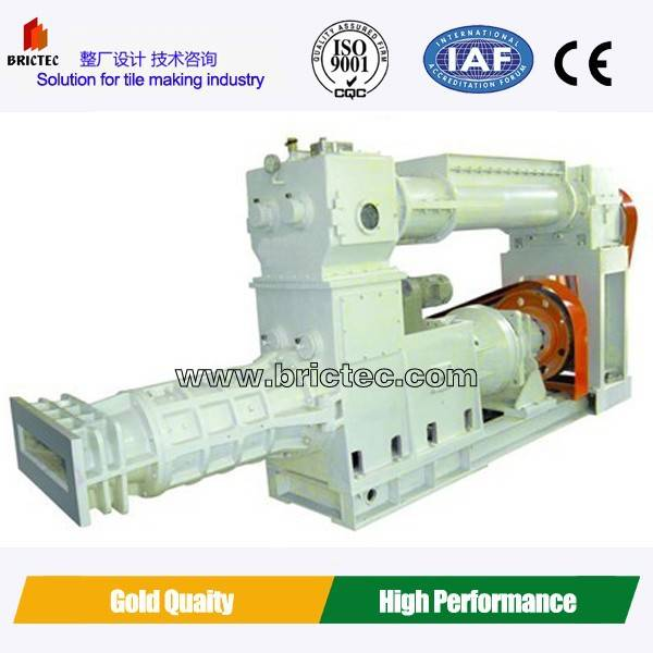 clay tile making vacuum extruder