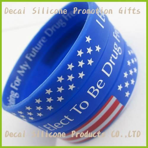 Promotional custom silicone wristband