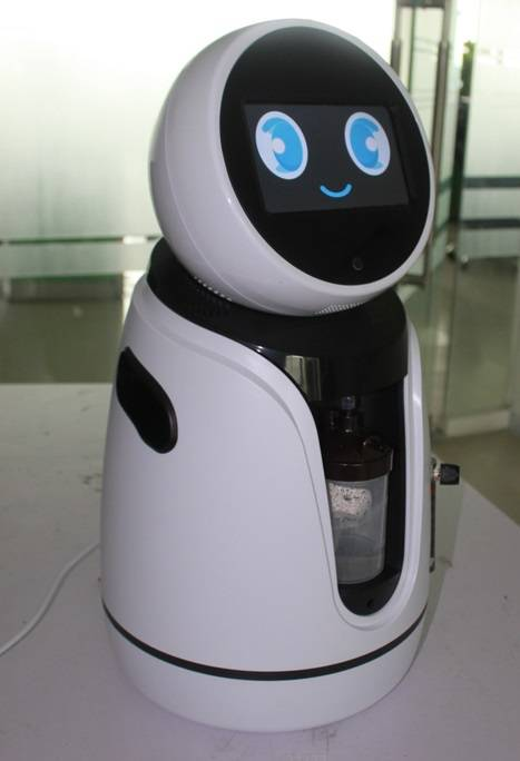 Baby Care Elders Nursing Robot with Camera and Tablet for Android