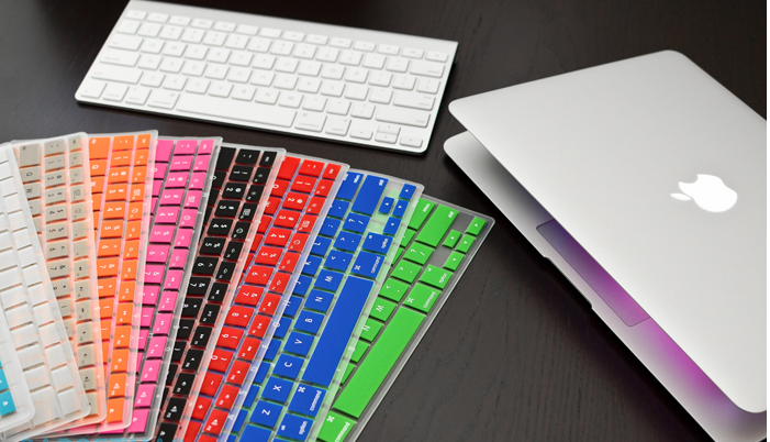 silicone waterproof / dustproof keyboard cover for macbook