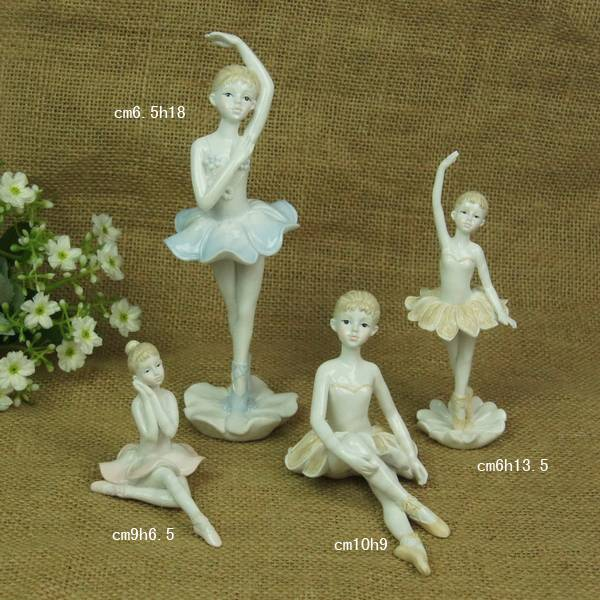 Resin craft supply elegant ballet dancer figurine