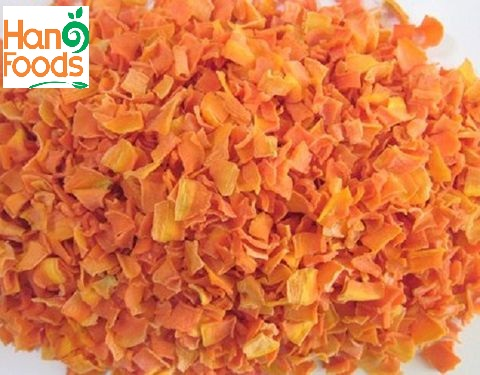 100% Natural Dehydrated/Dried Carrot Granules from Vietnam