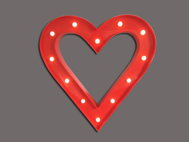 LED letters/signs/marquee HEART