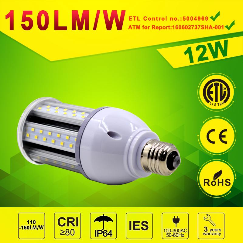 12W 16W 20W 24W E27 Retrofit LED Corn lamp 130-150LM/W