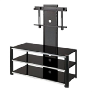 square design glass tv stand