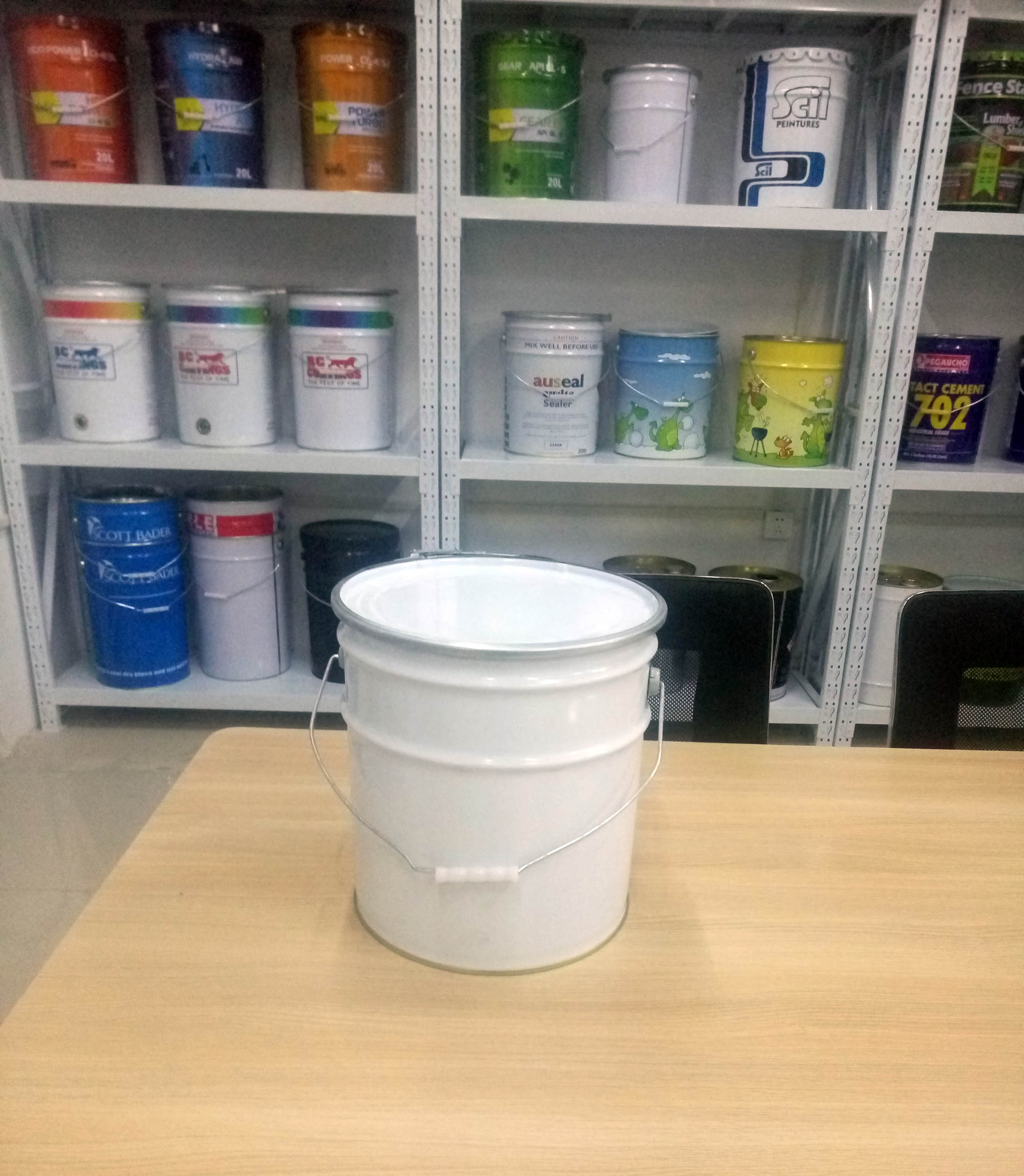 15L tin pail metal bucket
