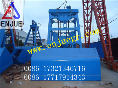remote control grab bucket for bulk material cargo material