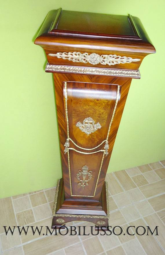 French antique pedestals stand with bronze mounted