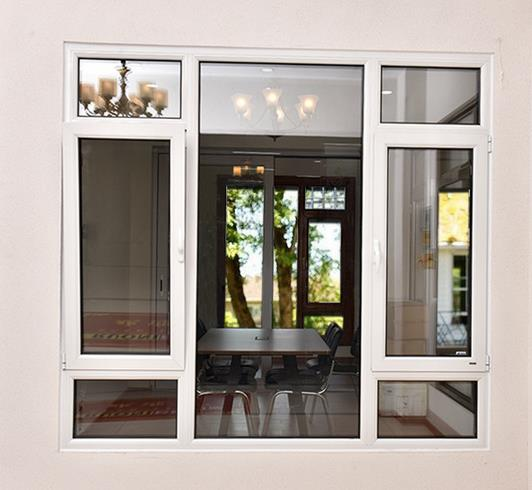 Security Single Panle Aluminum Shutter Screen Mesh Window Comply With Customized Desig