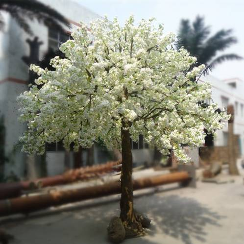 2014 Most realistic artificial withe cherry blossom tree top quality fake cherry blossom tree for de