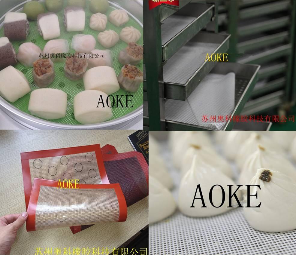 Silicone fiberglass steamer edge pad