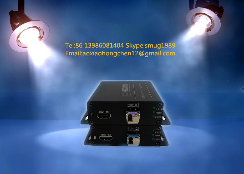 hdmi to fiber optic converters for 4k hdmi signals over 1SM/MM fiber extender to 0~60KM without dela