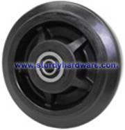 Casters Wheels Rubber on Nylon Waste Bin Wheels
