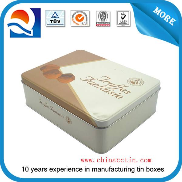 rectangle tin box for chocolate
