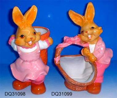 Ceramic easter figurine
