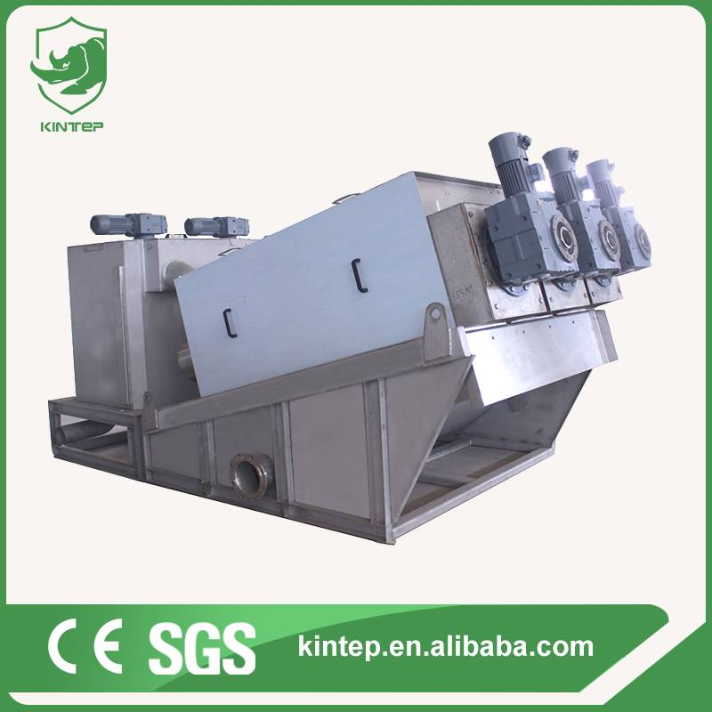 industrial wastewater sludge dehydrator machine