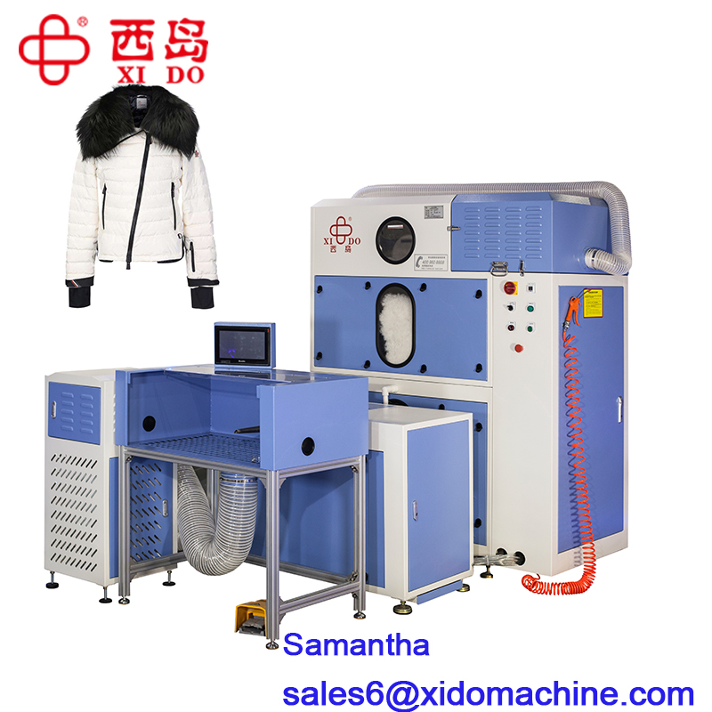 automatic down jacket filling machine with 3 scales