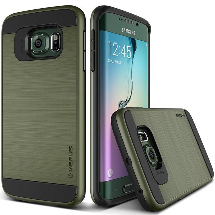 Verus Brushed Hybrid ShockProof Cover Case For Galaxy S6 Edge Plus S5 S4 Note 3 4 5 SGS6C58