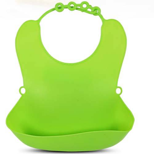 Eco Friendly Easy Cleaning Silicone Waterproof Babies' Feeding Bibs
