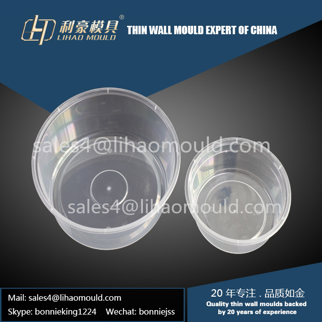 different size of plastic round container mould