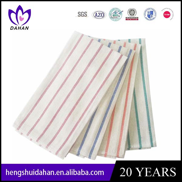 polyester yarn-dyed strip tea towel