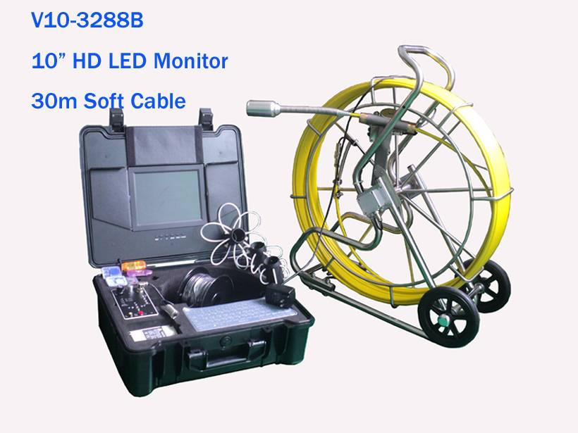 2 In1 Sewer Inspection/Sewer Detection with Waterproof Camera & New Counter Device
