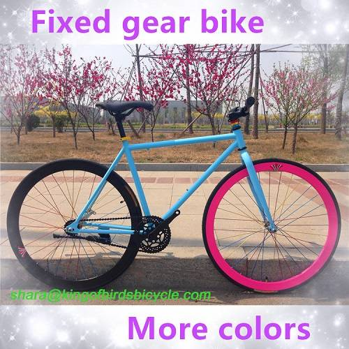 chinese cheap road bike promotion fixed gear bike steel frame road bike