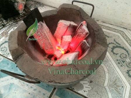 Smokeless sparkless wood charcoal for BBQ mangrove wood charcoal grill