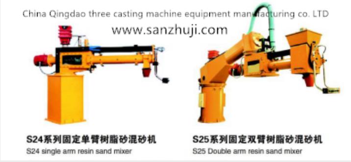 Resin sand mixing machine