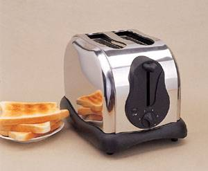 2 slice full Stainless steel Toaster,CE/GS/RoHS