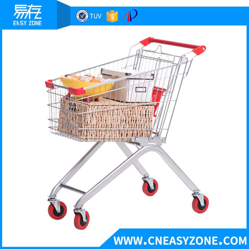 European-style supermarket shopping cart