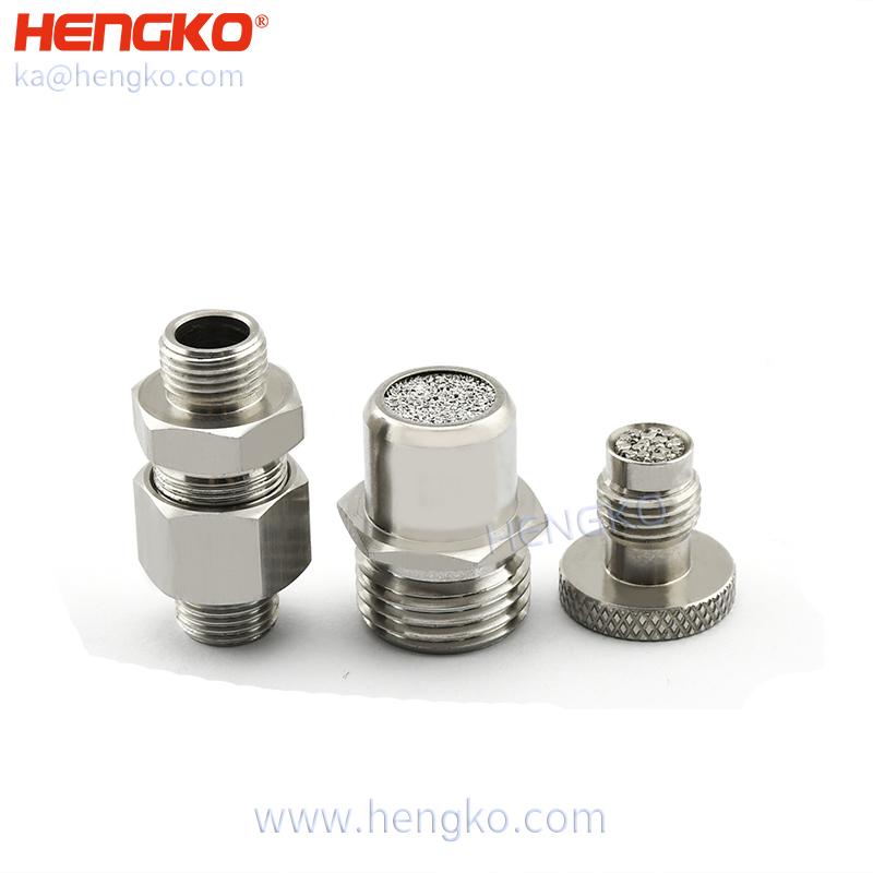 ventilator oxygen gas choke filter medical 316L stainless steel filter