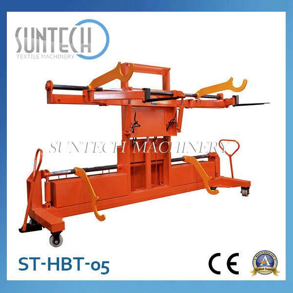 ST-HBT-05 Hydraulic Warp Beam Lift Trolley with Upper and Bottom Warp Beam For Sale