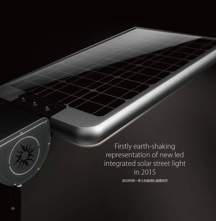 Motion Sensor Integrated All In One Solar Energy Powered Street Light