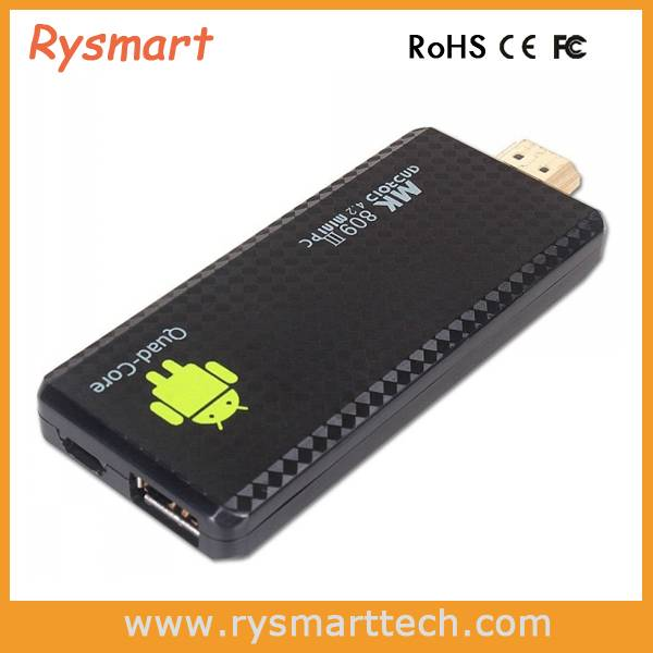 MK809 III Quad Core Android TV Box XBMC Smart TV Media Player IPTV Receiver 2G/8G Wireless HDMI Mirc