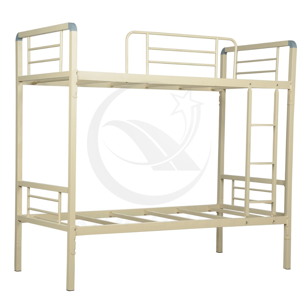 Home furniture strong structure two layer metal bunk bed