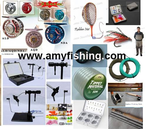 fly fishing tackle, bamboo fly rods, fly reels, fly box, fly line, fly wader, fly beads, fly set, SW